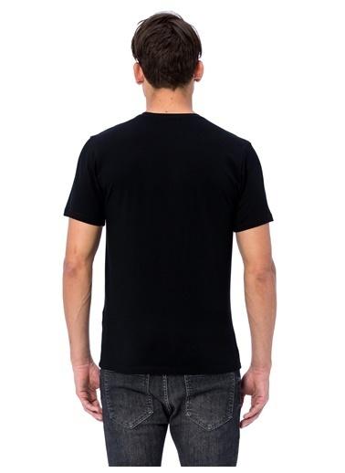 LC Waikiki V Yaka Tişört Siyah